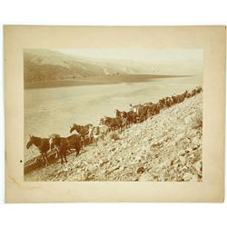 Train of Ore Wagons Photo (Possibly Inyo County)