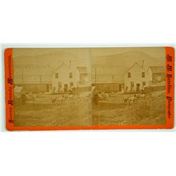 Stagecoach Leaving Town Stereoview by Hazeltine