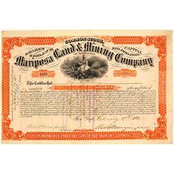 Mariposa Land & Mining Company Stock Certificate, 1880