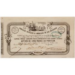 Compagnie Francaise & Americane de San-Francisco Stock Certificate