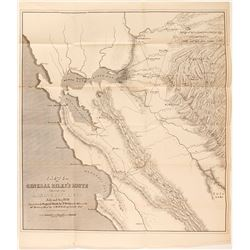 1849 Gold Rush Map of the Southern Gold Region of California