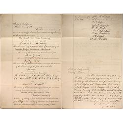 Gold Rush Tunnel Company Articles of Incorporation, 1859