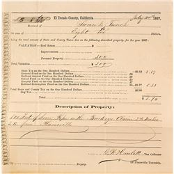 1867 Taxes for Swan & French for Taxes on the Buckeye Claim