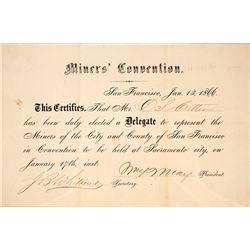 1866 Miner's Convention Delegate Identification