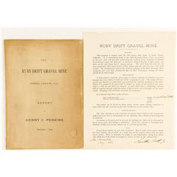 Report of the Ruby Drift Gravel Mine, Sierra County, 1879