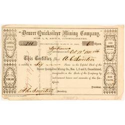 Denver Quicksilver Mining Company Stock Certificate