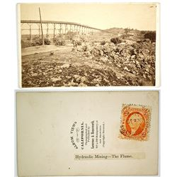 Columbia Hydraulic Mining –The Flume-- CDV by Lawrence & Houseworth