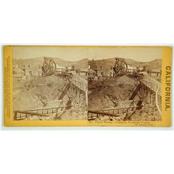 Placer Mining - Columbia, Tuolumne County Stereoview by Lawrence & Houseworth