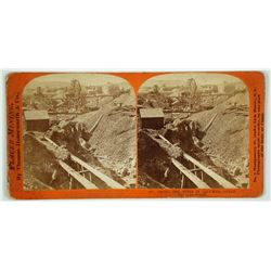Among the Mines in Columbia Gulch Stereoview by Thomas Houseworth
