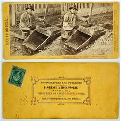 Placer Mining in Columbia, Tuolumne County Stereoview by Lawrence & Houseworth