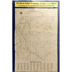Map of Tuolumne County, California