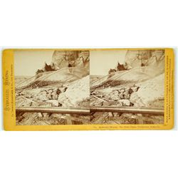 The Palm Claim, Timbuctoo, Yuba County , Stereoview by Thomas Houseworth & Co