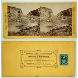 Timbuctoo Diggings, Yuba County Stereoview by Lawrence & Houseworth & Co.