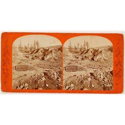 California Hydraulic Mining Stereoview