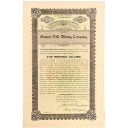 Garnett Gold Mining Company Gold Bond