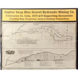 Map of Jupiter Deep Blue Gravel Hydraulic Mining Co. (Calaveras County)