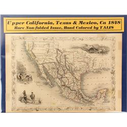 Map of Upper California, Texas & Mexico