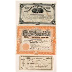 Southern California Mining Stock Certificates (3)