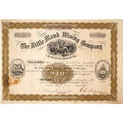 The Little Maud Mining Co. of Colorado Stock Certificate, 1882, Boulder County, CO