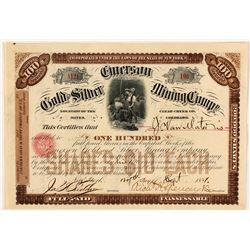 Emerson Gold & Silver Mining Co. Stock Certificate, Clear Creek Co., 1881
