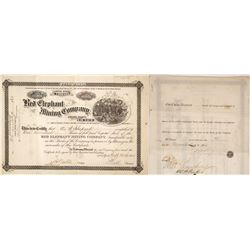Red Elephant Mining Company Stock Certificate, Clear Creek Co, Colorado, 1881