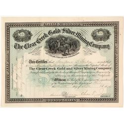 The Clear Creek Gold & Silver Mining Co. Stock Certificate, 1882