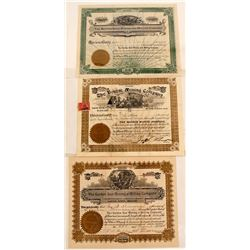 Colorado Mining Stock Certificates (3)