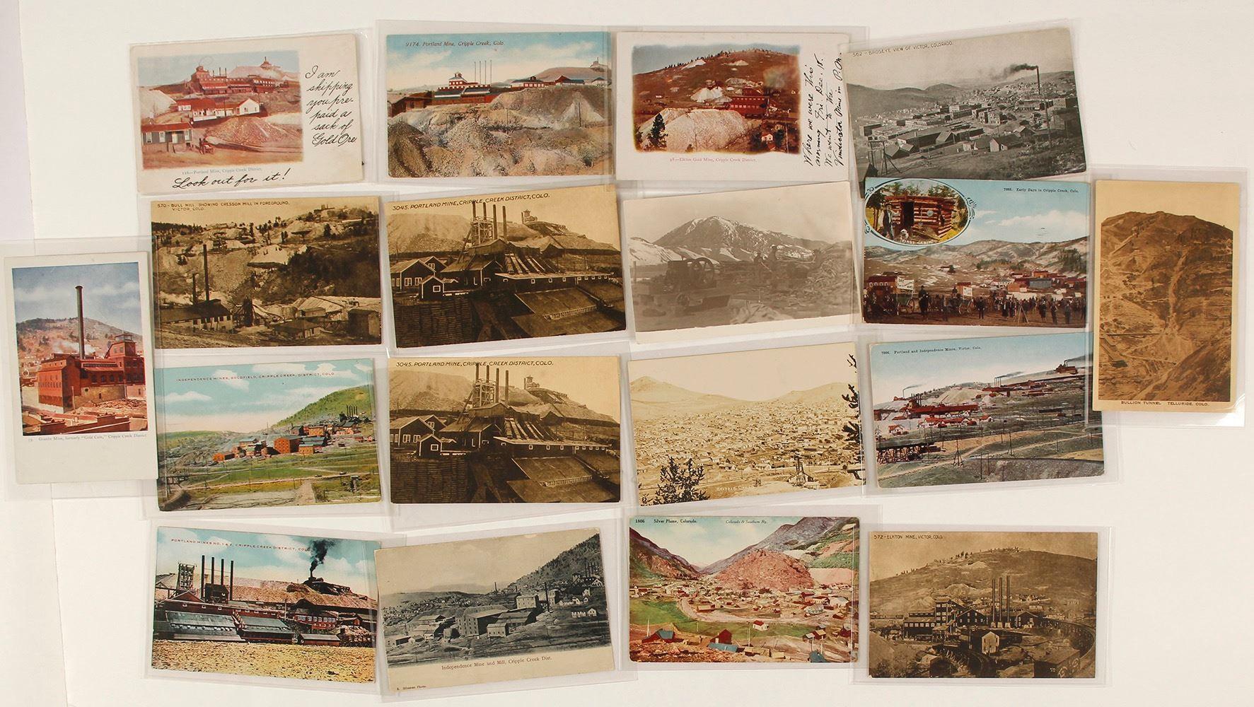 Cripple Creek, Colorado Mining Postcard Collection
