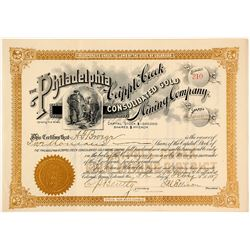 Philadelphia & Cripple Creek Cons. Gold Mining Co. Stock Certificate, 1897