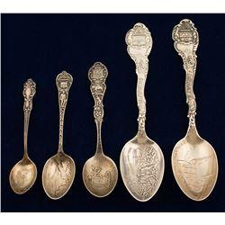 Cripple Creek Souvenir Silver Spoons (5)