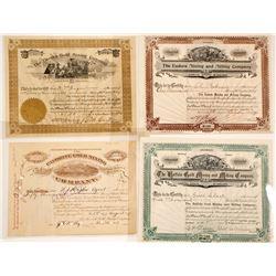 Cripple Creek, CO Mining Certificates (4)