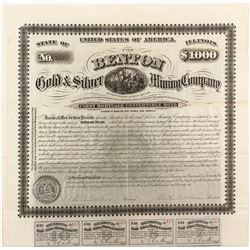 Benton Gold & Silver Mining Company First Mortgage Bond