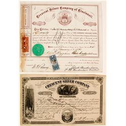 Crescent Silver Co of Cincinnati Stocks (2)