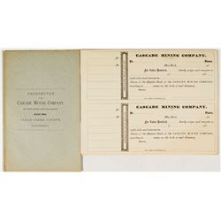 Prospectus for The Cascade Mining Company of New York & Colorado