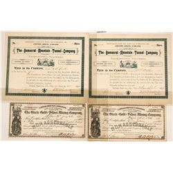 Colorado Mining Certificates (4)