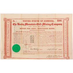 Rocky Mountain Gold Mining Company Bond