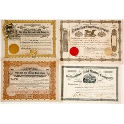 Gilpin County Colorado Mining Certificates (4)