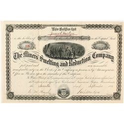The Miners Smelting & Reduction Co. Stock Certificate, Golden, CO, 1881