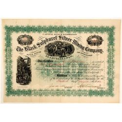 Black Sulphuret Silver Mining Co. Stock Certificate, Leadville, CO, 1881