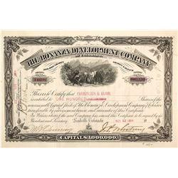 Bonanza Development Co. of Colorado Stock Certificate, Leadville, 1904
