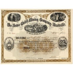 The Iowa Gulch Mining Co. of Leadville, Colorado Stock Certificate, 1887