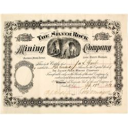 The Silver Rock Mining Company Stock Certificate, Leadville, CO, 1881