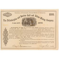 Philadelphia and Boston Bold and Silver Mining Company Bond