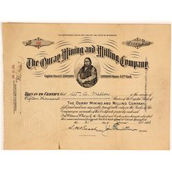 Ouray Mining & Milling Company Stock Certificate, 1913