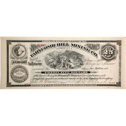 Farncomb Hill Mining Co. Stock Certificate, $25, 1892