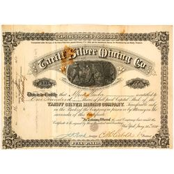 Second Tariff Silver Mining Company Stock Certificate, 1880