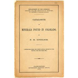 1878 Catalogue of Minerals Found in Colorado