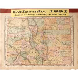 1891 Map of Colorado