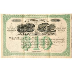 Ophir Mining, Milling & Prospecting Co. Stock Certificate, 1881