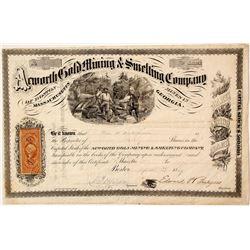Acworth Gold Mining & Smelting Company Stock Certificate